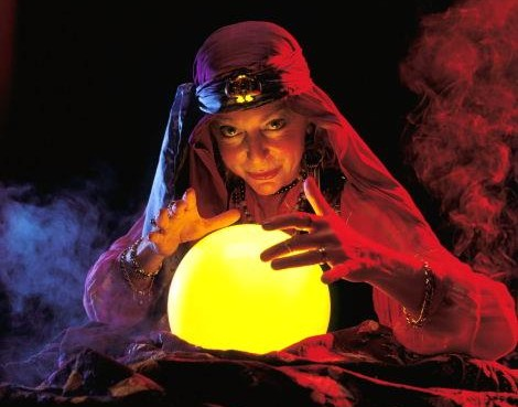 Gypsy and her crystal ball.
